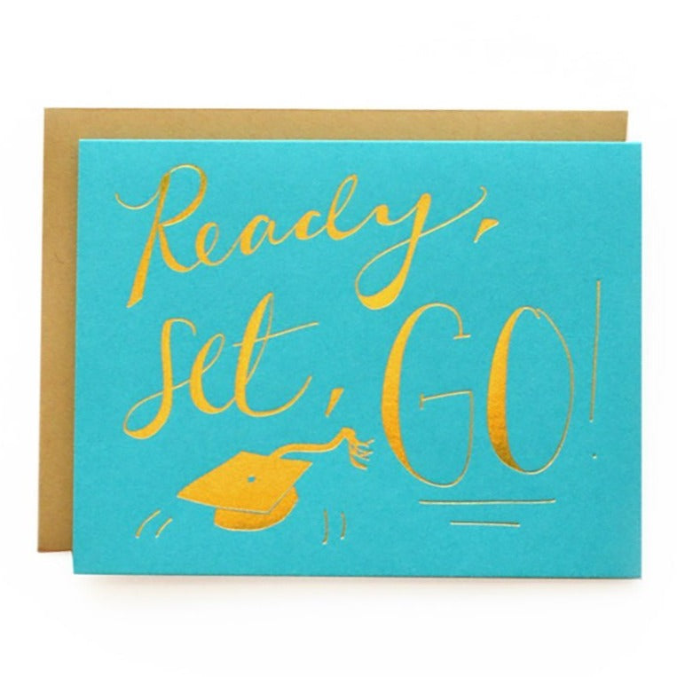 ready set go! graduation congratulations card