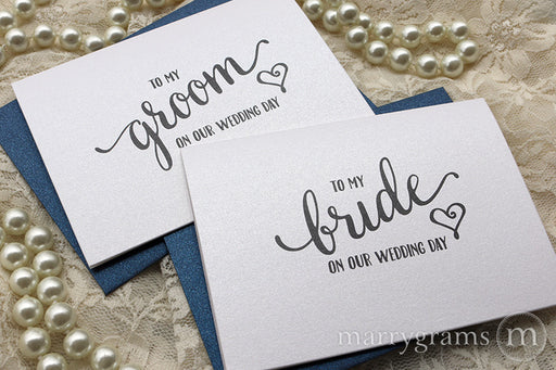 To My Bride or Groom Wedding Day Card Heart Style