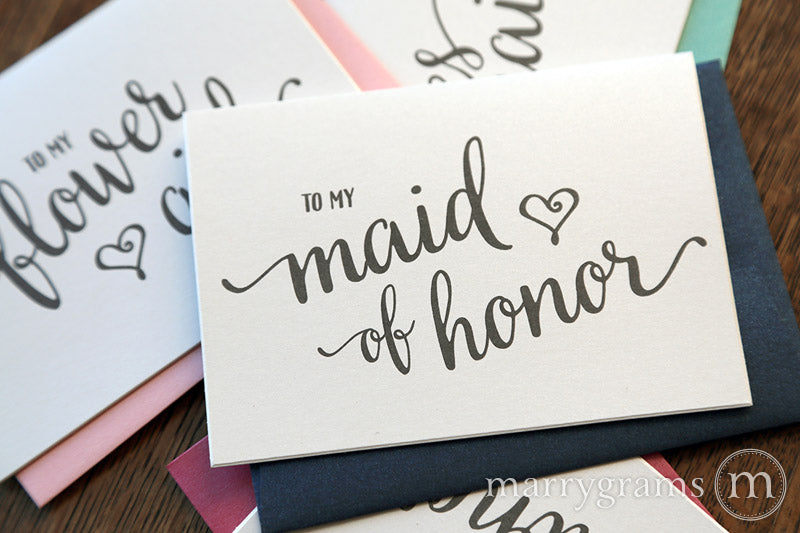 To My Bridesmaid Card Heart Style