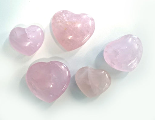 Small Rose Quartz Heart - Single
