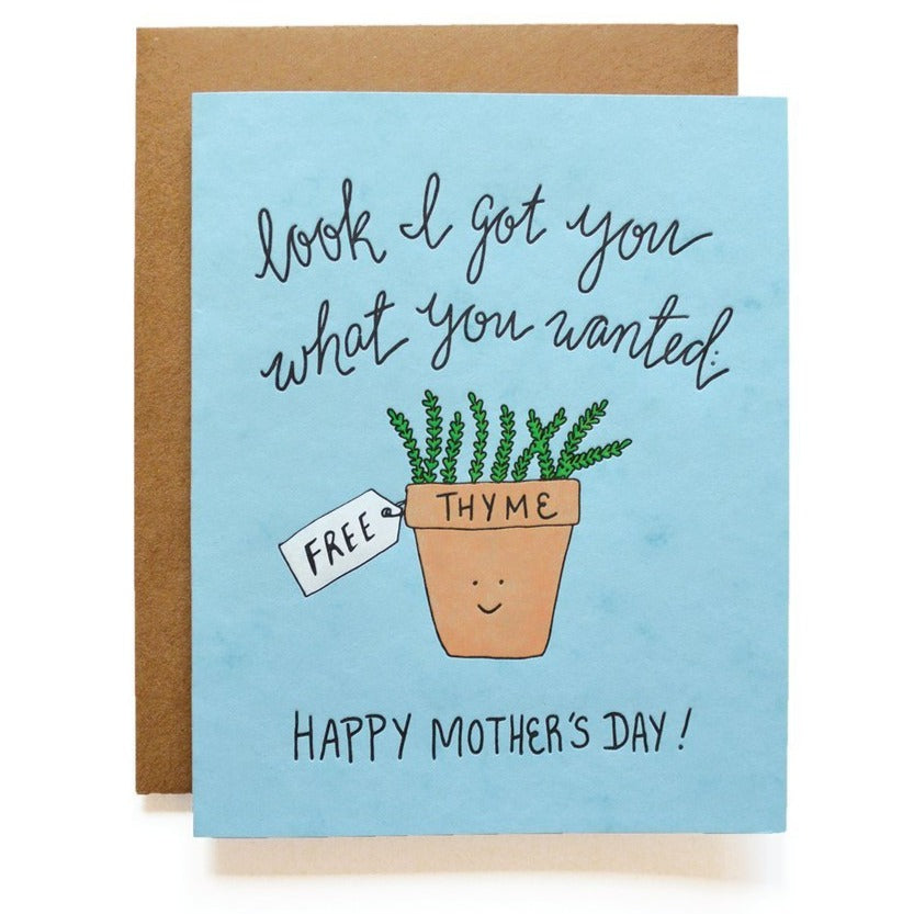 Free Thyme Mother's Day Card