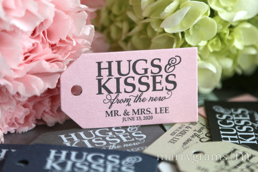 Hugs & Kisses Wedding Favor Tags
