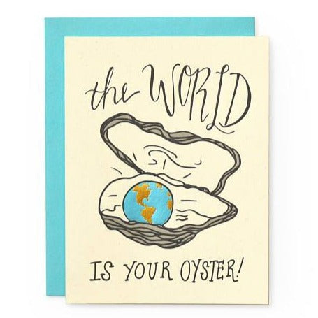 World is Your Oyster graduation Card