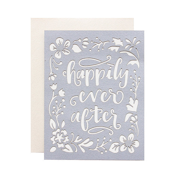 Happily Ever After Laser Cut Card