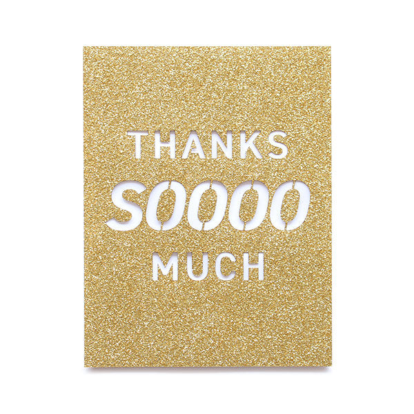 Thanks Sooooo Much Glitter Laser Cut Card