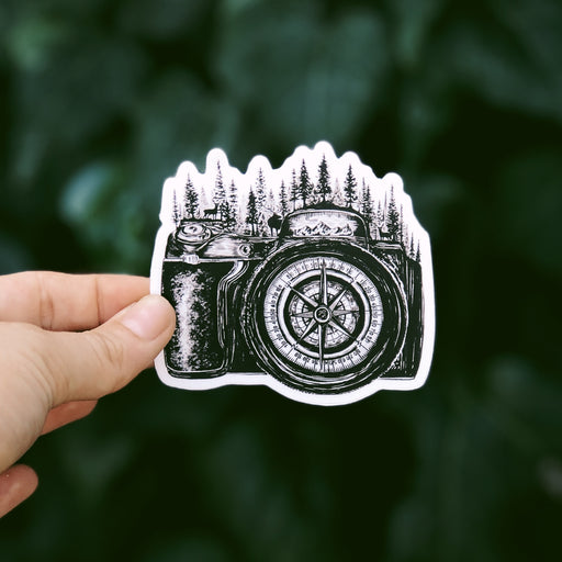 Camera Compass Vinyl Sticker