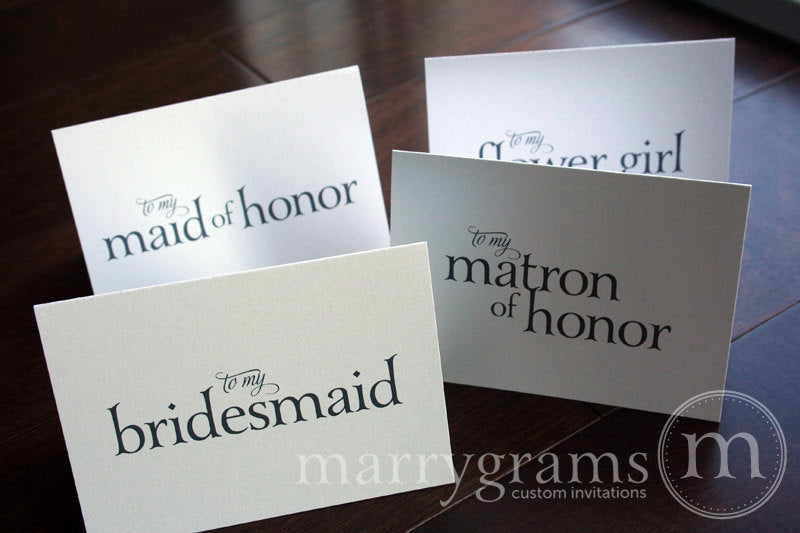To My Bridal Party Wedding Day Card Serif Style