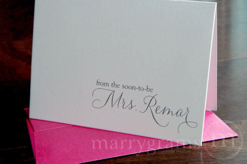 From the Soon-To-Be Mrs. Custom Thank You Card Thin Style