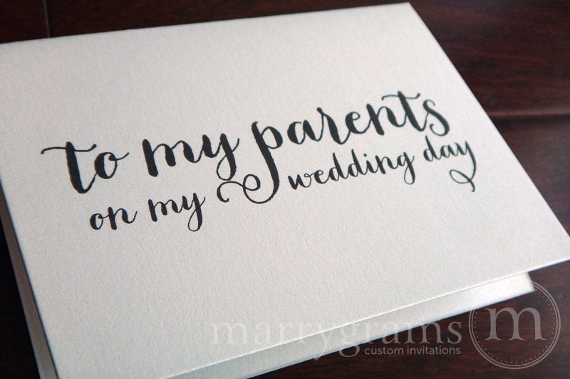To My Family parents Wedding Day Card Thick Style