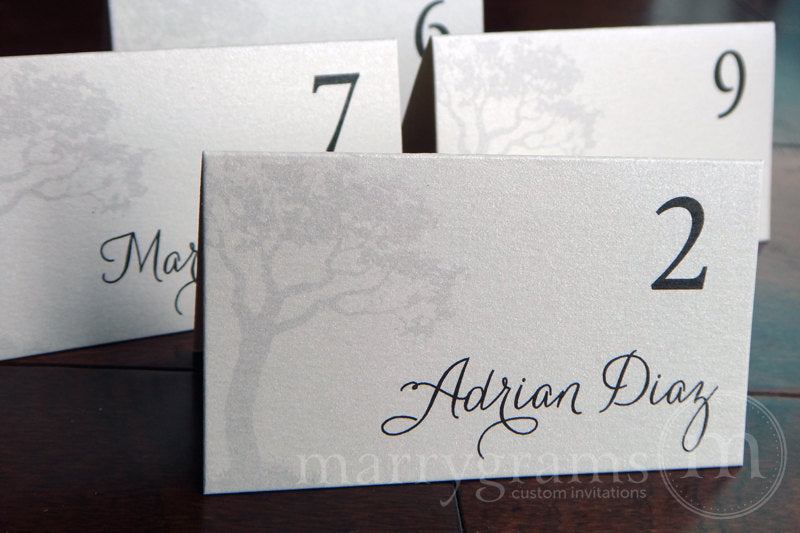 Tree Themed Reception Escort Cards