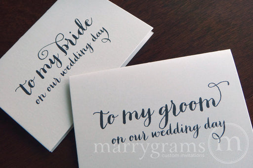 To My Bride or Groom Wedding Day Card Thick Style