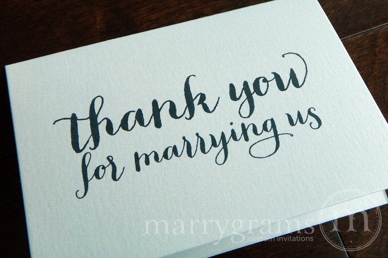 Thank You For Marrying Us Officiant Card Thick Style