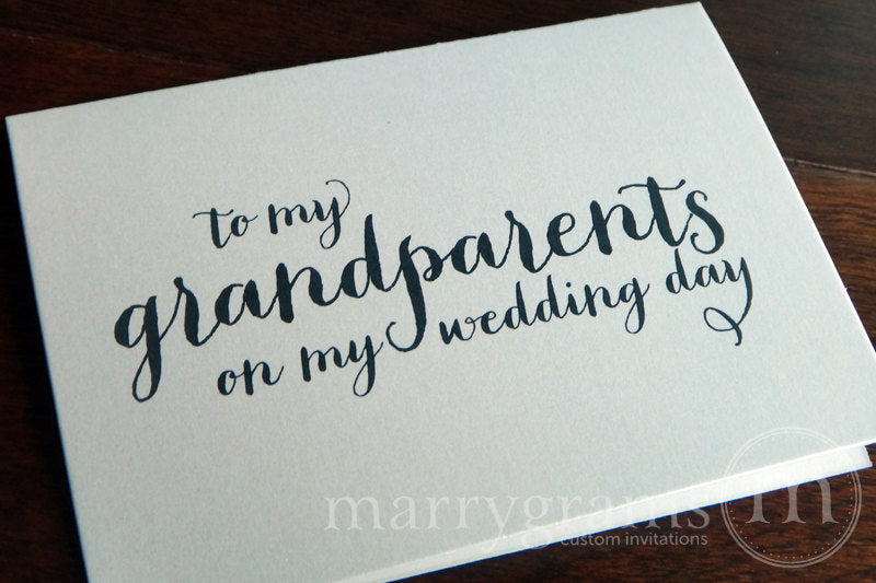 To My Family grandparents Wedding Day Card Thick Style