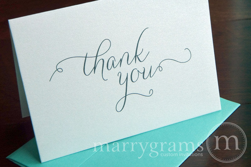 Classic Wedding Thank You Card Thin Style