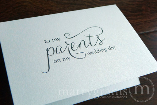 To My Family parents Wedding Day Card Thin Style