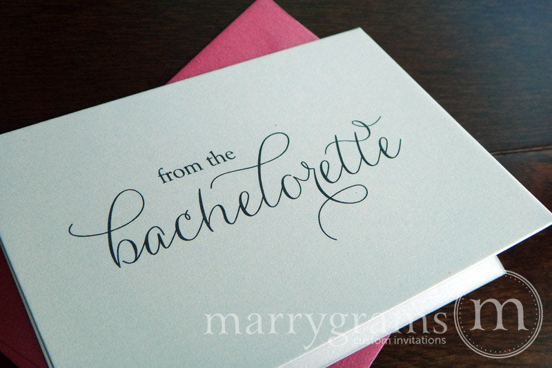 From the Bachelorette Shower Thank You Card Thin Style