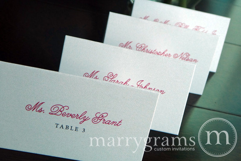 Reception Escort Cards Curly Style