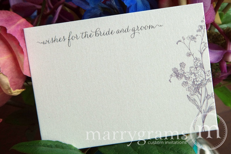 Wishes for the Bride and Groom advice Cards Floral Design