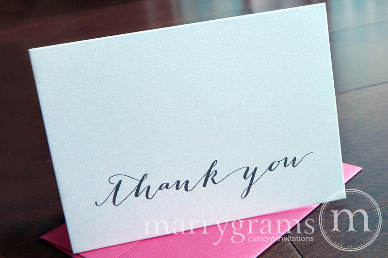 Wedding Thank You Card Handwritten Style