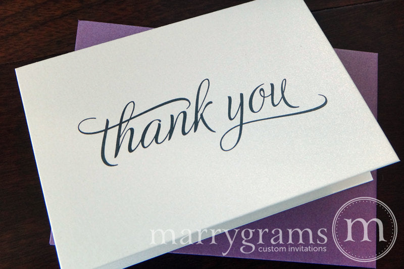 simple Wedding Thank You Card Script Style
