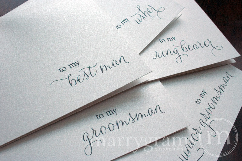 To My Bridal Party Wedding Day Card Thin Style