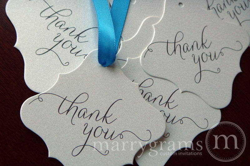 Thank You Wedding Favor Tag Thin Style