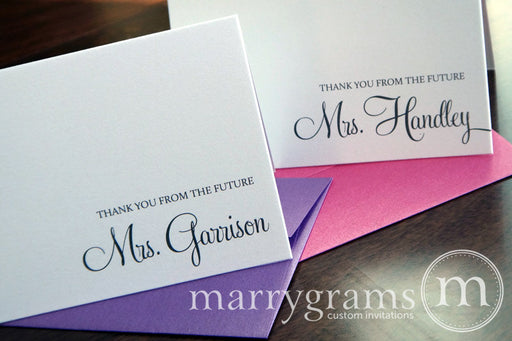 Thank You From The Future Mrs. Custom Bridal Shower Card