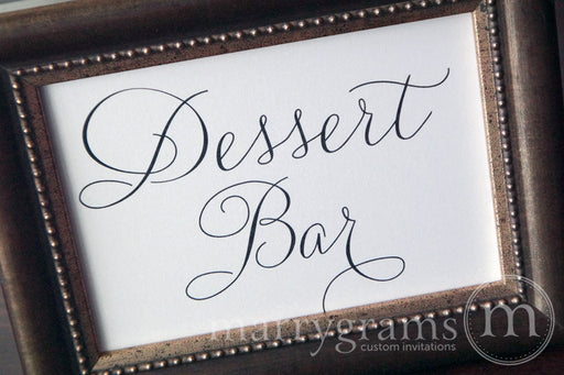 Dessert Bar Wedding Sign Thin Style