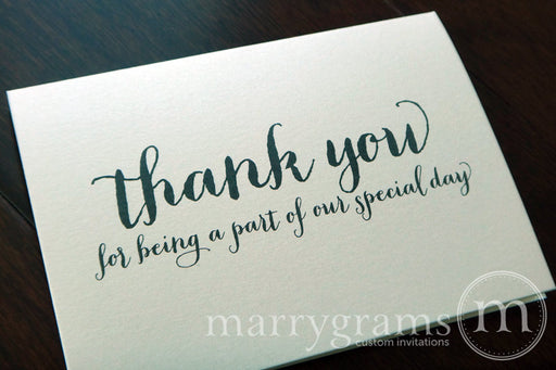 Our Special Day Wedding Vendor Thank You Card Thick Style
