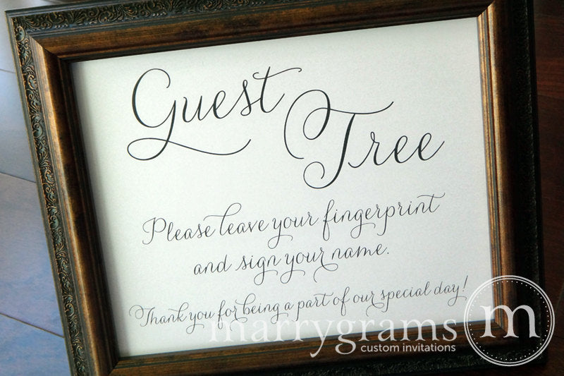Wedding Guest Tree Sign Thin Style