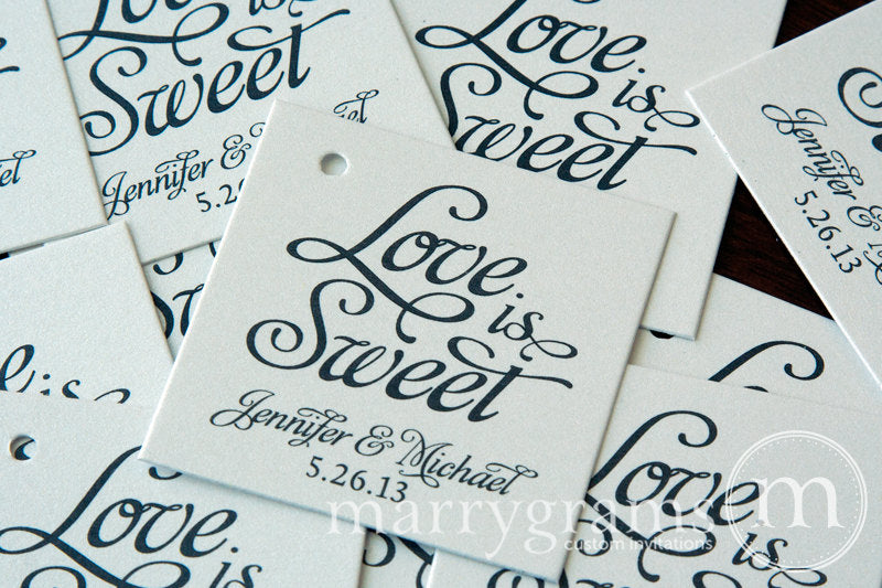 Love is Sweet Custom Wedding Favor Tag