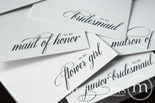 To My Bridal Party Wedding Day Card Calligraphy Style