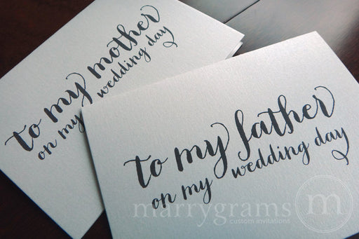 To My Family mother and father Wedding Day Card Thick Style