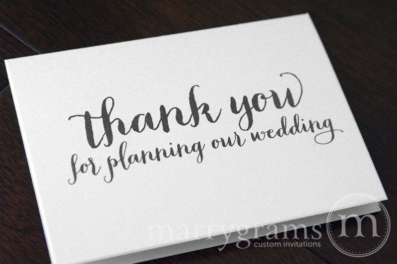 Thank You For Planning Our Wedding Card Thick Style
