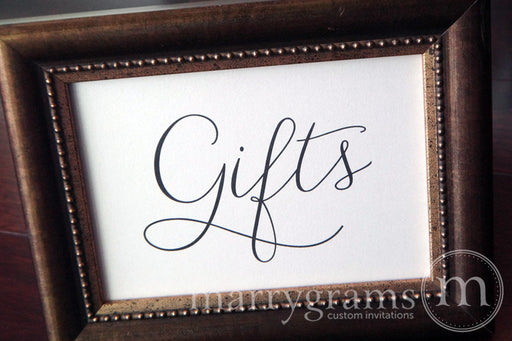 Gifts Wedding Gift Table Sign Thin Style