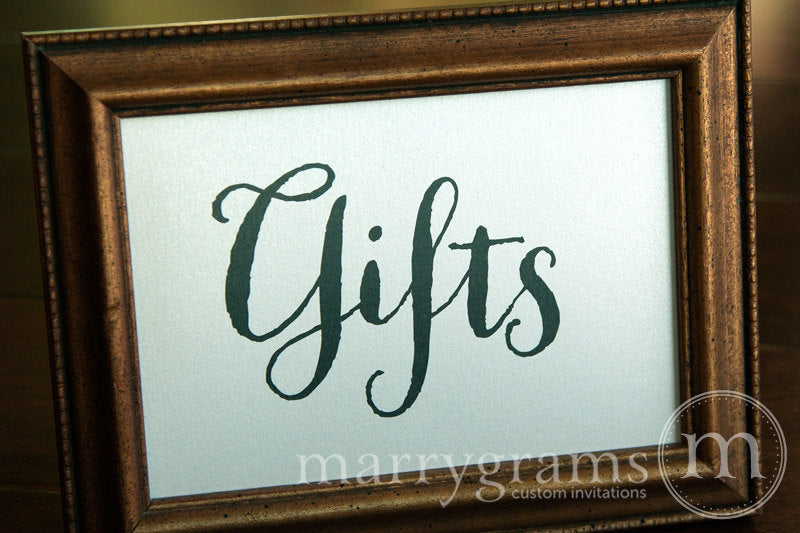 Gifts Wedding Gift Table Sign Thick Style