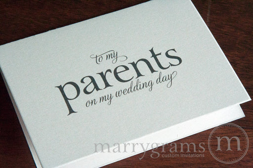 To My Family parents Wedding Day Card Serif Style