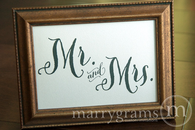Mr. and Mrs. Sweetheart Table Sign Thick Style