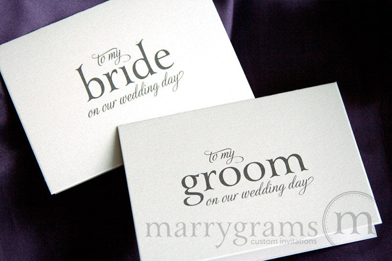 To My Bride or Groom Wedding Day Card Serif Style