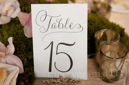 Numerical Wedding Table Number Signs Thin Style