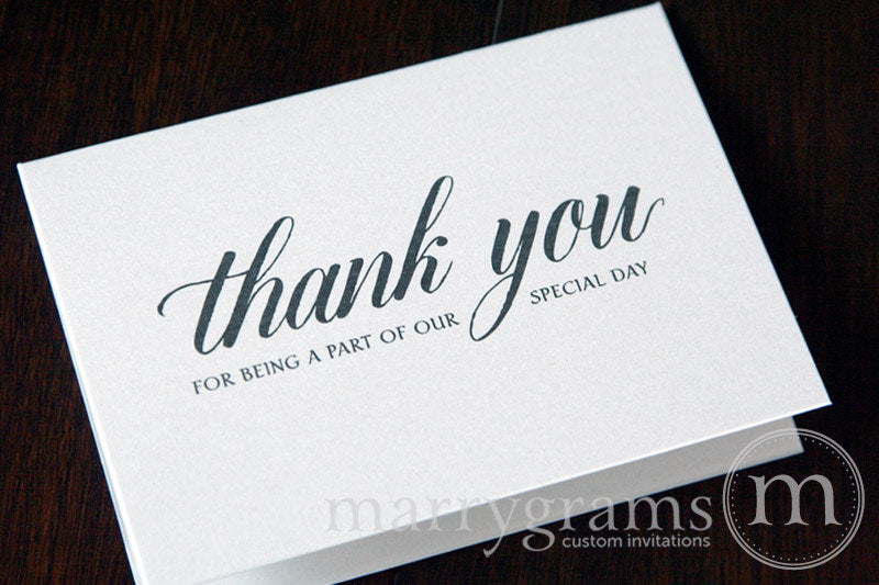 Our Special Day Vendor Thank You Card Calligraphy Style