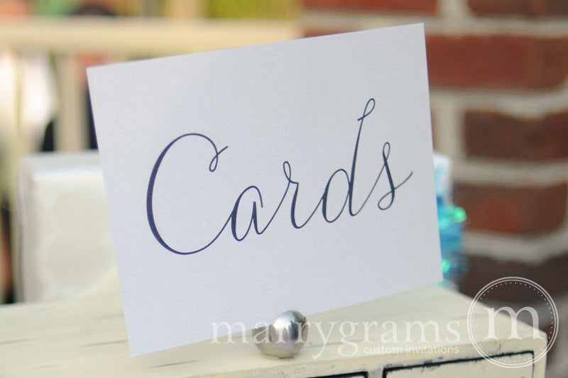 Cards Wedding Reception Card Table Sign Thin Style