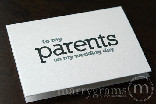 To My Family parents Wedding Day Card Block Style