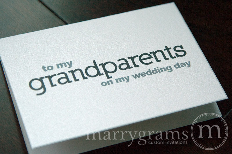 To My Family grandparents Wedding Day Card Block Style