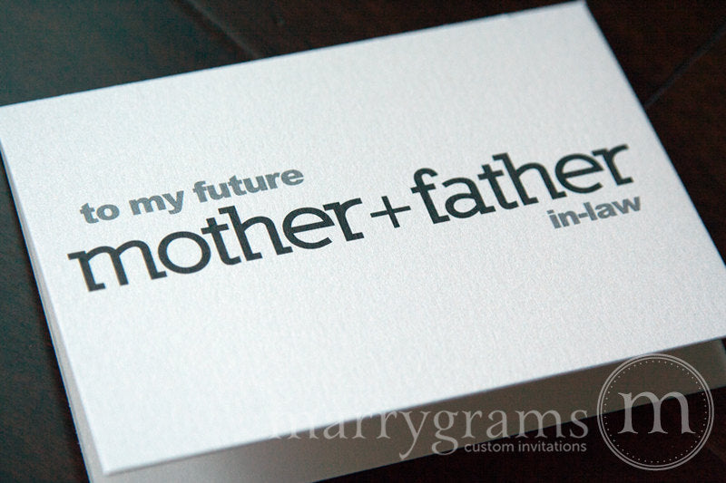 To My Family future in laws Wedding Day Card Block Style