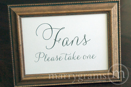 Fans Wedding Sign Thin Style