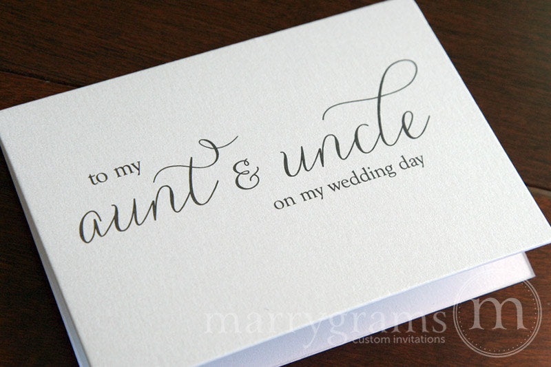 To My Family Wedding Day Card Thin Style