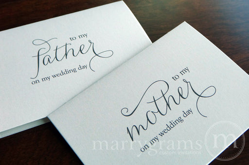 To My Family mother and father Wedding Day Card Thin Style