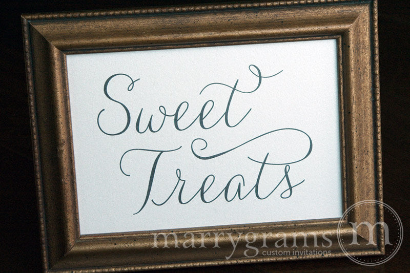 Wedding Sweet Treats Dessert Candy Sign Thin Style