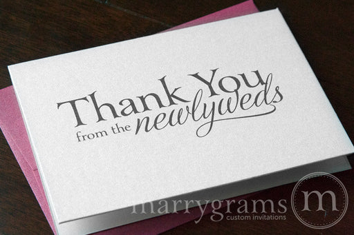Thank You from the Newlyweds Card Serif Style